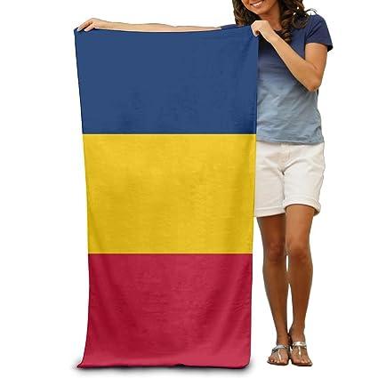 Bandera de Chad adultos toallas de playa de rápido/secado rápido lavable a máquina ligero