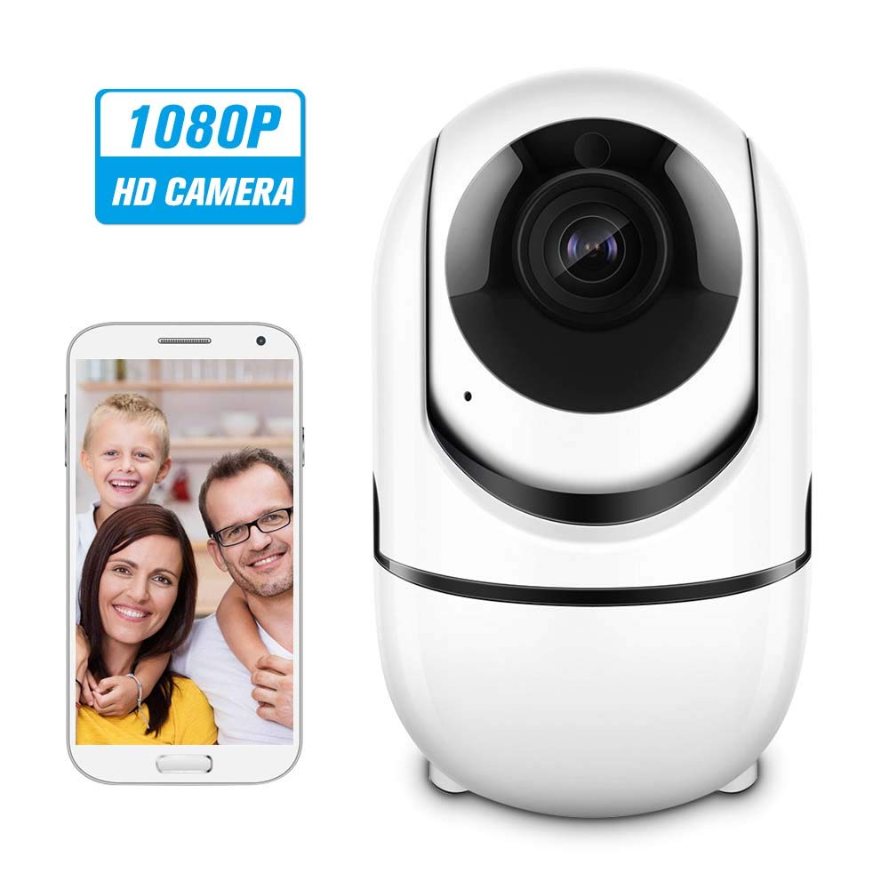 IP Camera 1080P, Wireless Home Security Camera with Night Vision/Motion Detection, Remote Monitor with iOS, Android App - Cloud Service Available
