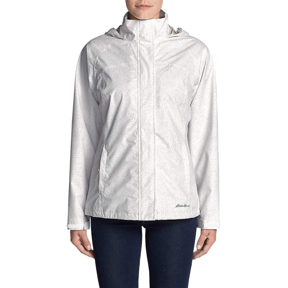Eddie Bauer Women's Rainfoil Packable Jacket, Cloud Petite M