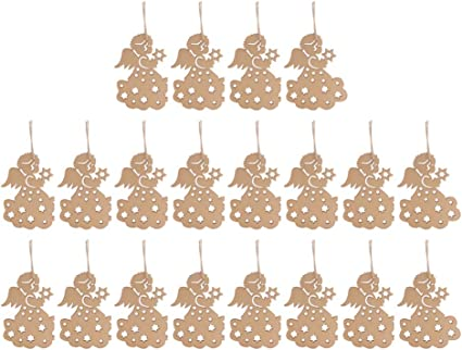 Angel Unfinished wood mini sizes wooden angel tags,Wood laser cut gift tags