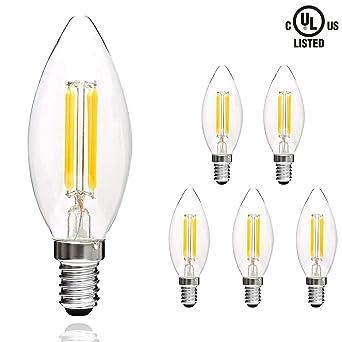 Svater 4 Filament De E12 Ampoules Led W À Transparent En C32 6 Lot BEQrdxWCoe
