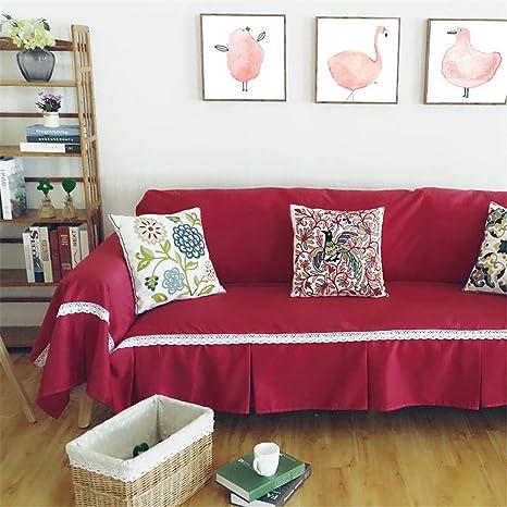 HKDD Color sólido Funda de sofá Cuatro Estaciones ...