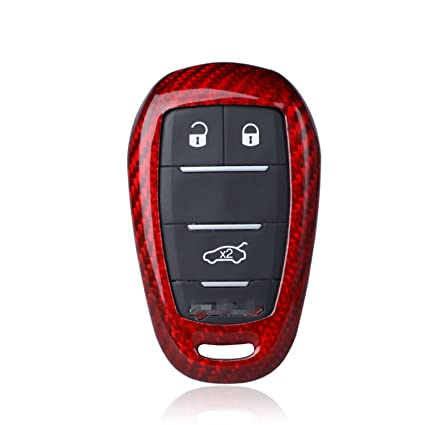Amazoncom Carbon Fiber Case For Alfa Romeo Key Fob Genuine - Alfa romeo car cover