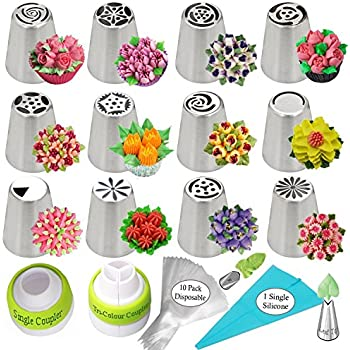 Amazon.com: Russian Piping Tips Cake Decorating Supplies