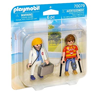 PLAYMOBIL 70079 Duo Pack for Doctors and Patients Colourful: Toys & Games