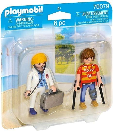 PLAYMOBIL- Duo Pack Duopack Doctora y Paciente, Multicolor (70079): Amazon.es: Juguetes y juegos