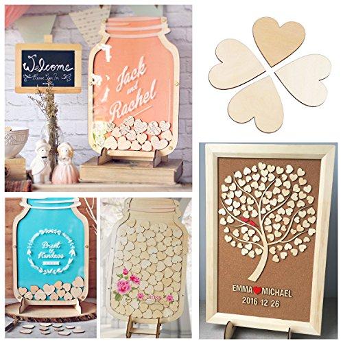 Ultnice 6cm wooden heart slices diy crafts embellishments for Kitchen craft cookware reviews