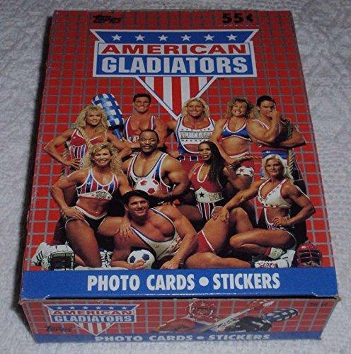 1991 Topps American Gladiators Hobby Box (36 Packs/8 Cards, 1 Sticker) (Gladiator Card)
