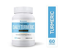 NativePath Daily Turmeric Activated Curcumin & Black Pepper Extract, Anti-Inflammatory Capsules, Provides Joint Relief and Supports Your Immune System, Mood, Memory and Brain Health (60 capsules per b