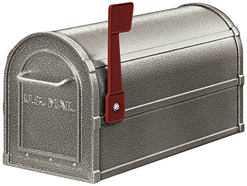 Rural Mailbox, Deluxe, Pewter