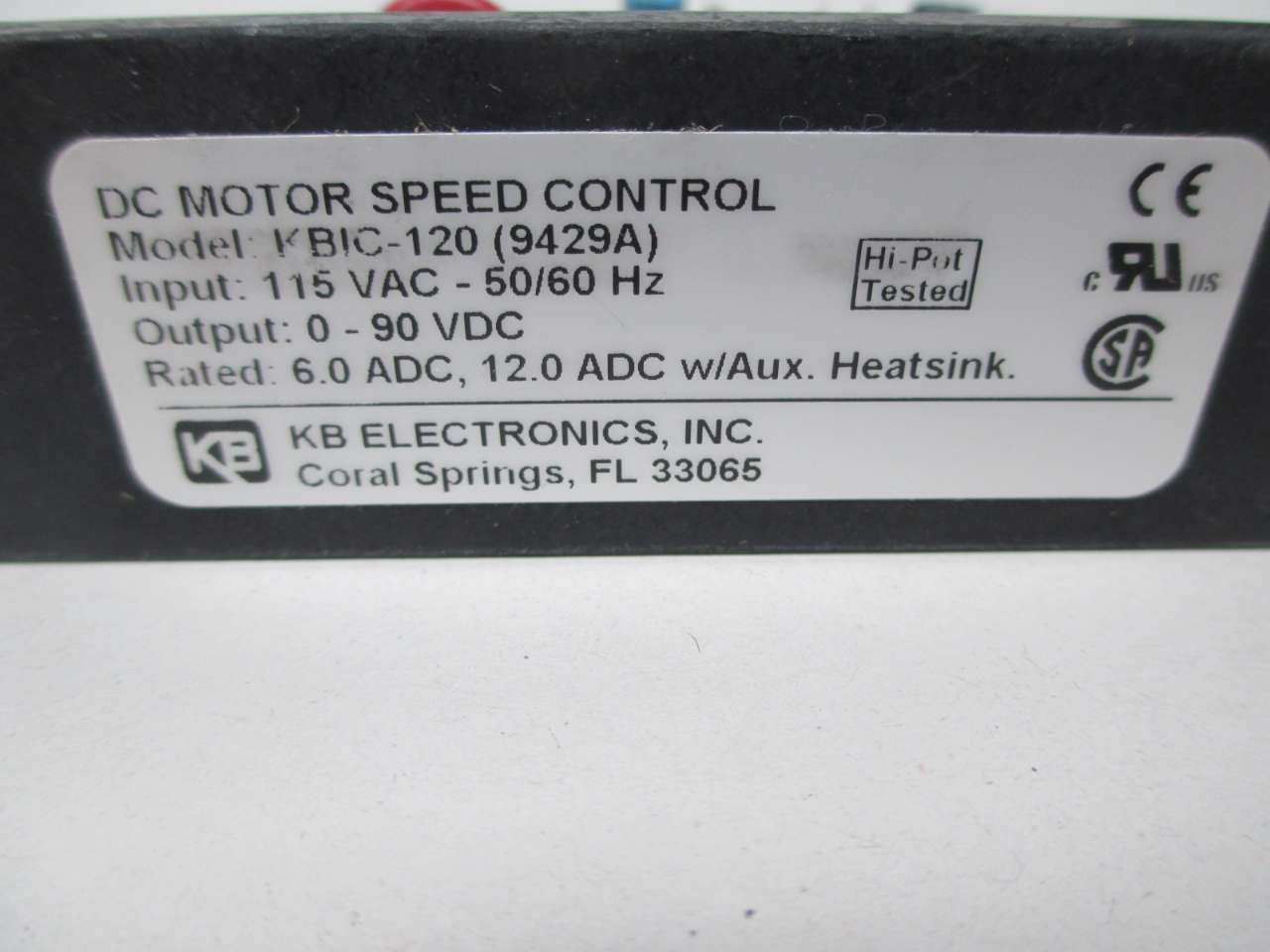 KB Electronics INC DC Motor Speed Control w/ Potentiometer KBIC-120 ...