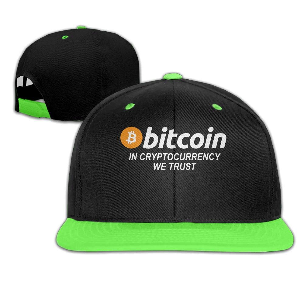 Kids Girls Bitcoin in Cryptocurrency We Trust Baseball Caps Snapback Hip-Hop Cap Hats