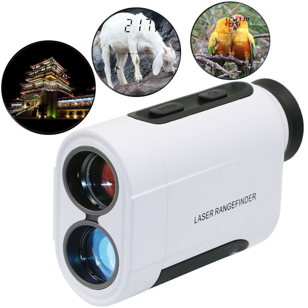 zqasales Golf Rangefinder, Laser Range Finder with Slope, Golf Trajectory mode, Flag-Lock and Distance/Speed/Angle Measurement - Golf Scope