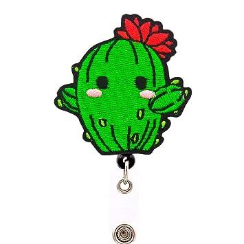 Amazon.com: YOROYAL Cactus Badge Reel, Alligator Clip ...