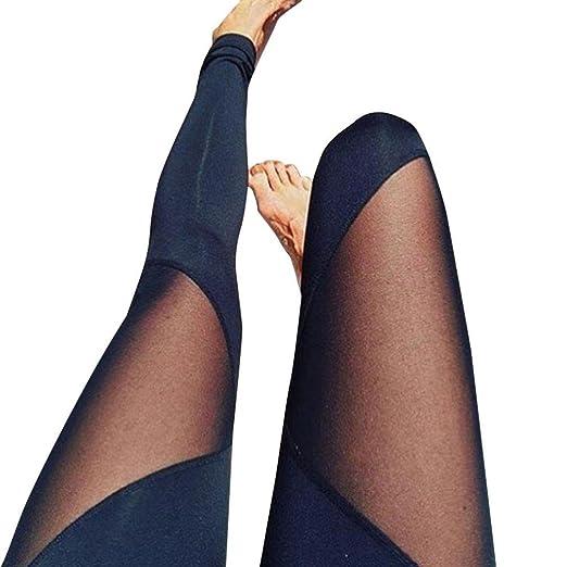 d86b7b0497bee8 Amazon.com: Pocciol Skinny Yoga Leggings, Sexy Mesh High Waist Trousers  Stretch Running Sports Pants: Clothing