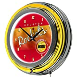 NBA Houston Rockets Ring Neon Clock, One Size, Chrome