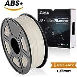 SUNLU ABS Plus 3Dプリンタフィラメント、ABSフィラメント1.75 mm、3D印刷フィラメント3Dプリンタ用3Dフィラメント、白色ABS +
