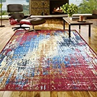 Superiors Designer Non-slip Arona Area Rug; Digitally Printed, Low Maintenance, Affordable and Fashionable, Multi-Color - 2 x 3