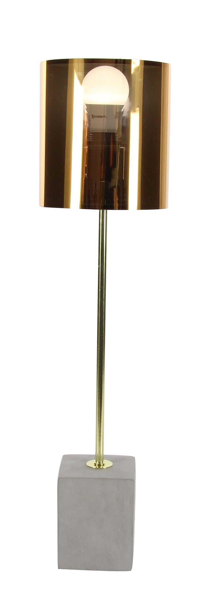 Deco 79 58692 Gold Iron and Concrete Table Lamp, Gold/Gray, 2 Piece