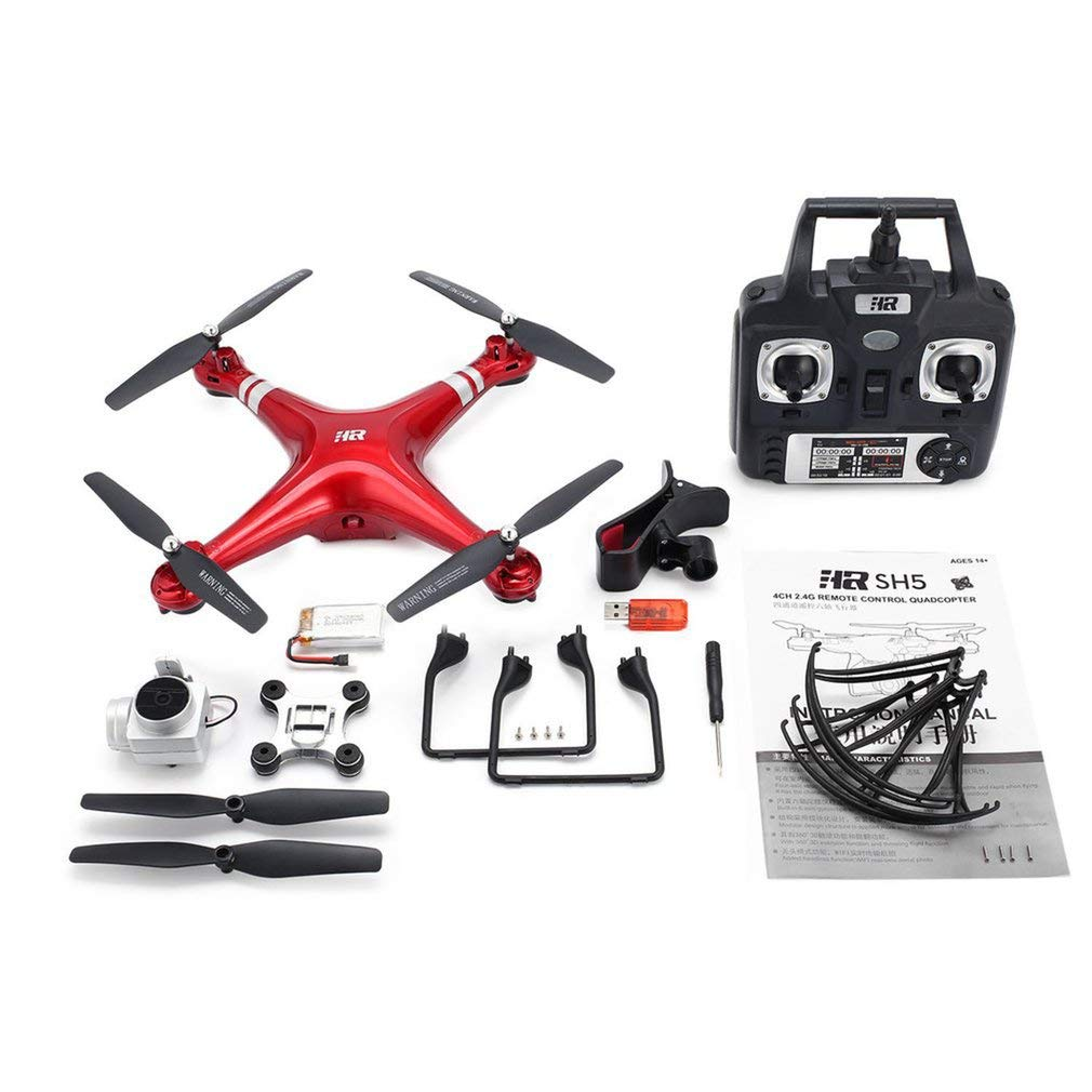 GreatWall SH5H 2.4G 1080P Weißwinkel HD Kamera FPV Drohne RC Quadcopter Altitude Hold rot