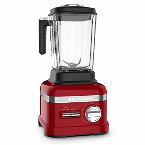 KitchenAid Artisan Power Plus 5KSB8270BCA 1800-Watt Blender with Thermal Control Jar (Candy Apple) Hand Blenders at amazon