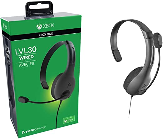 PDP - Auricular Mono Chat Gaming LVL30 Con Cable, Gris (Xbox One ...
