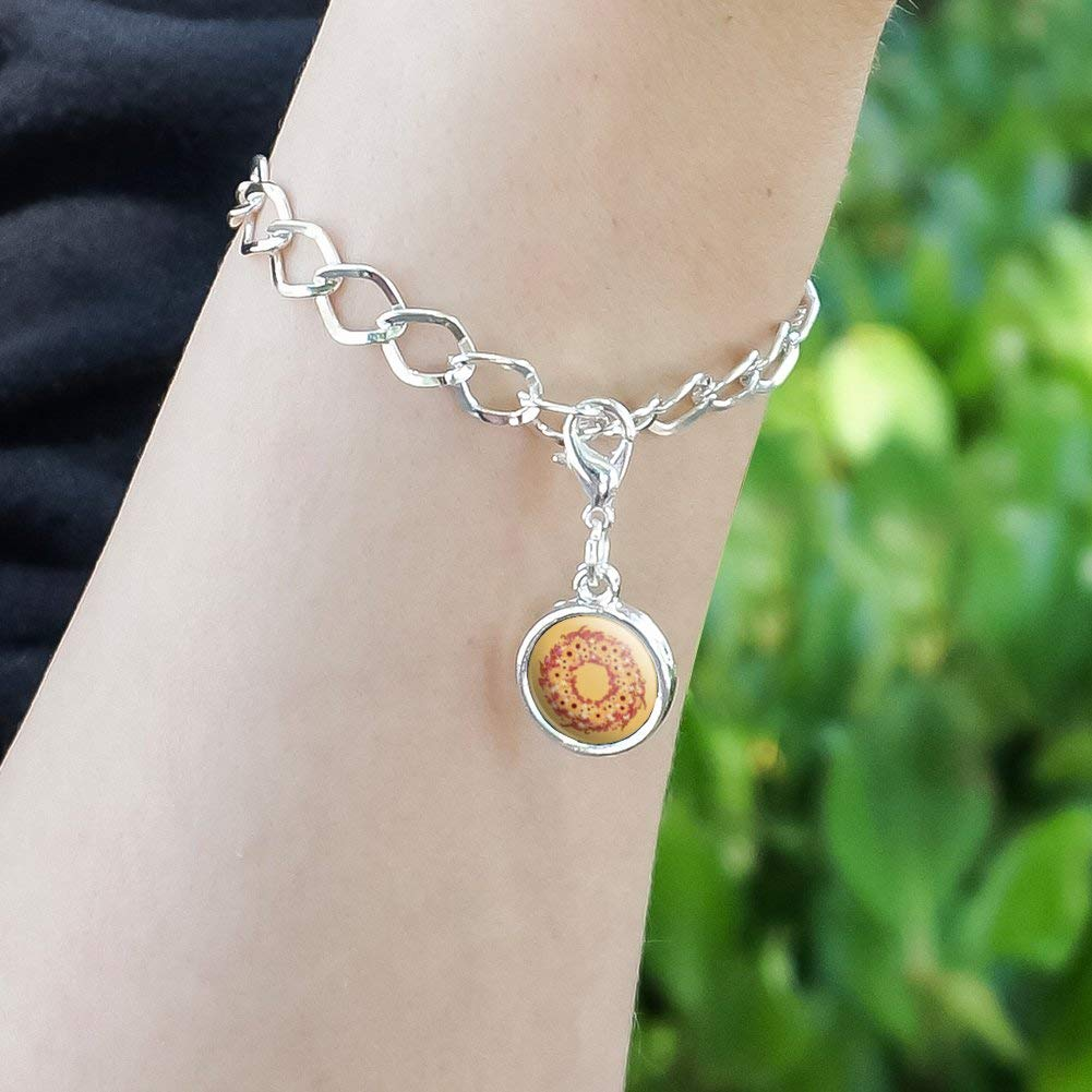 GRAPHICS /& MORE Autumn Fall Wreath Sunflowers Antiqued Bracelet Pendant Zipper Pull Charm with Lobster Clasp