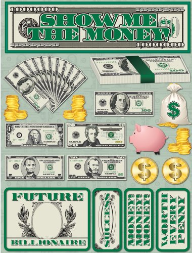 Reminisce Signature Series 3-Dimensional Sticker, Show Me The Money