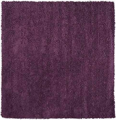 (Surya Aros AROS-15 Shag Hand Woven 100% New Zealand Felted Wool Prune Purple 8' Square Area Rug)
