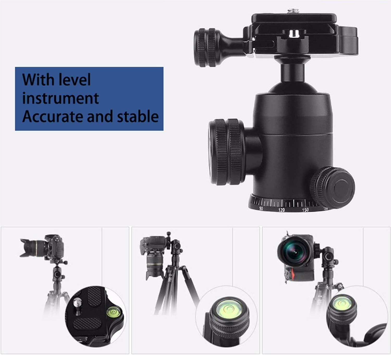 Color : Black LLluckyHW 61 Inches Tripod Monopod 360 Degree Panorama Ball Head Photography Video Shooting 摄影录像拍摄 旅行和工作 DSLR Video Shooting