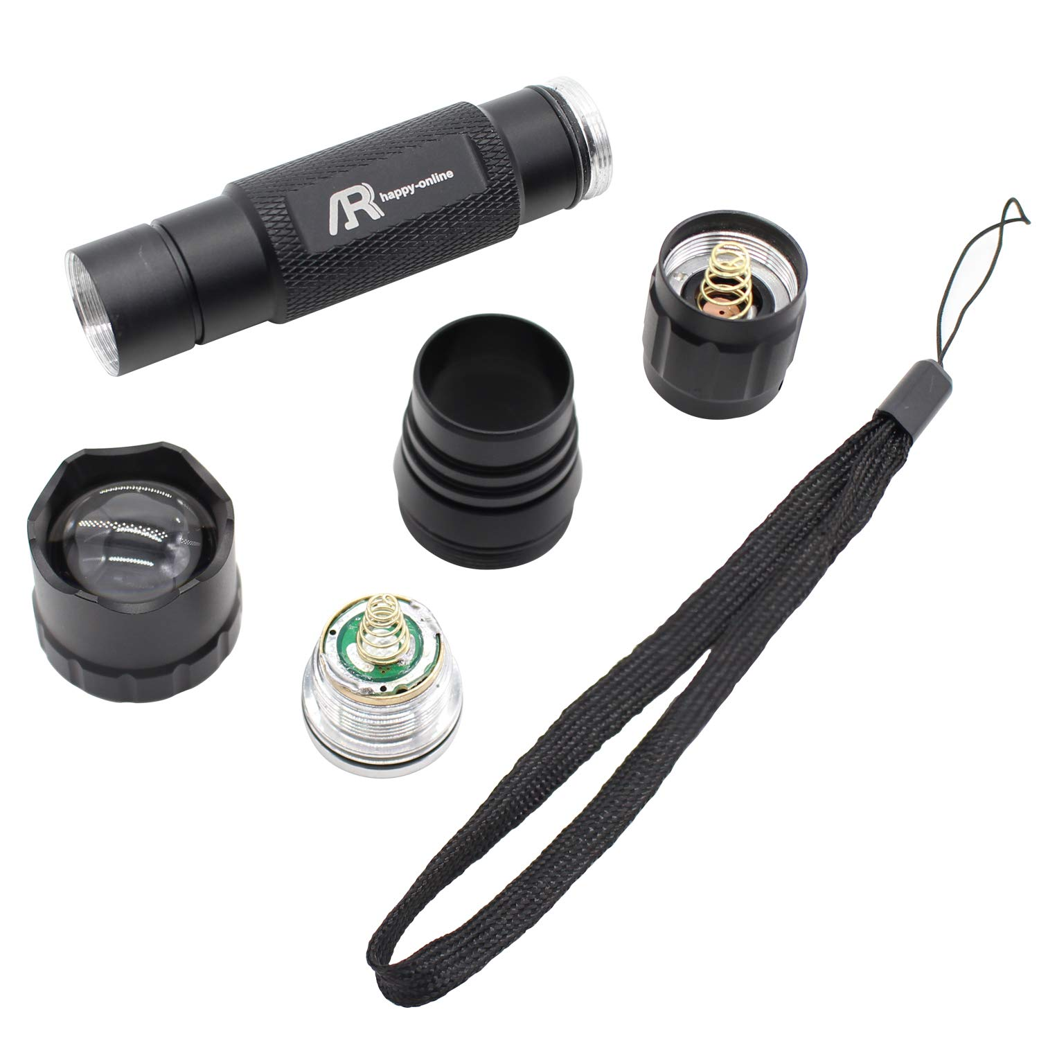 Astronomy and Emergency Water Resistant AR happy online 2 Pack Red Light LED Flashlight Night Vision Single Mode 620nm-630nm Adjustable Focus Red Light for Camping Zoomable Hunting Hiking