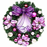 Christmas Garland for Stairs fireplaces Christmas Garland Decoration Xmas Festive Wreath Garland with Garland Christmas,60cm