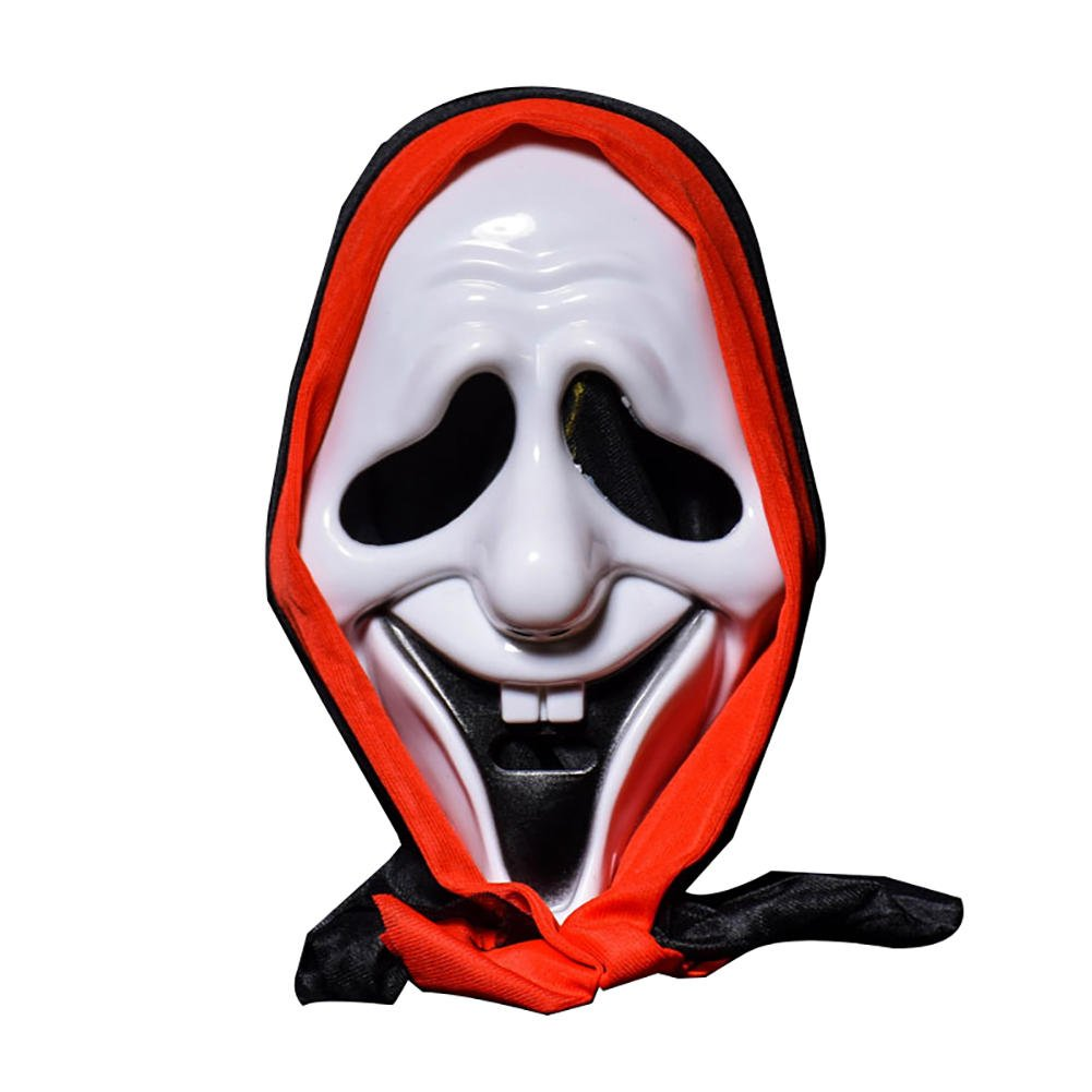 Allhallows Eve Scarey Cloak - Halloween Skull Mask Bar Dance Horror Scary Soul Prop Demon Devil Smile Door Ghost - Chilling Masquerade Shuddery Block Shivery Dissemble Alarming - 1PCs