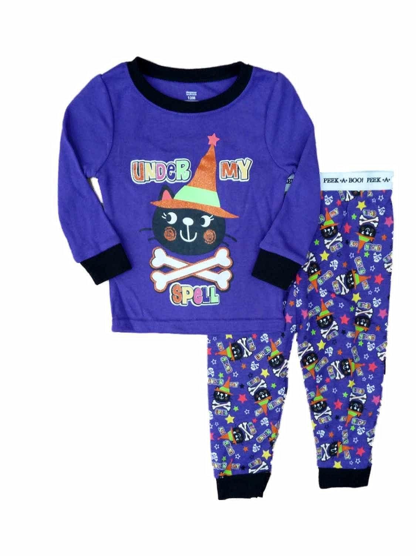 Infant Toddler Girl Under My Spell Halloween Cat Sleep Set Sleepwear Pajamas