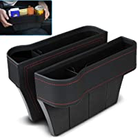 VVHOOY 2 Pack Car Seat Gap Filler,PU Leather Seat Console Organizer Pocket, Car Seat Catcher Between Seats Organizer for…