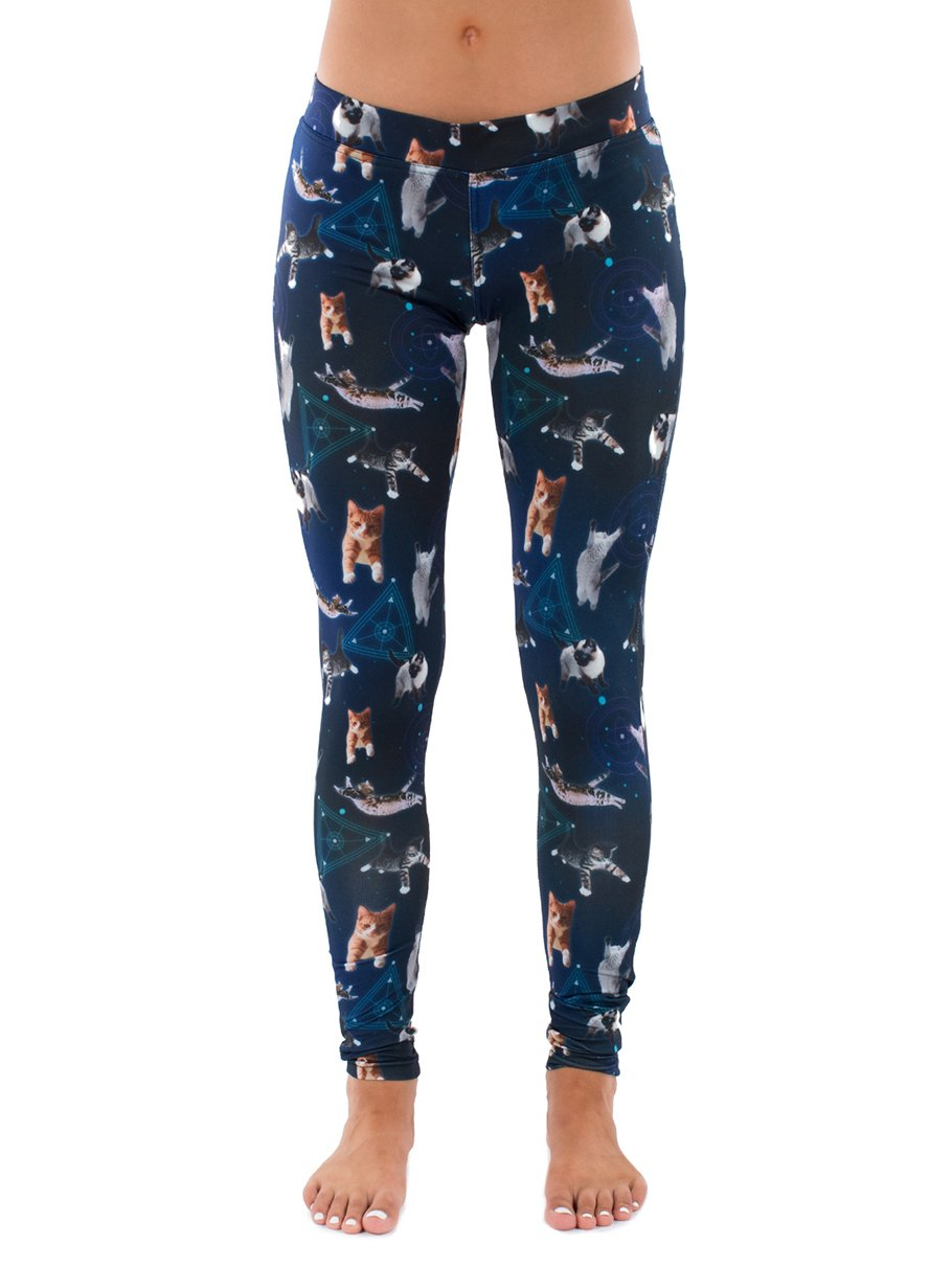 Tipsy Elves Cats In Space Leggings: X-Large