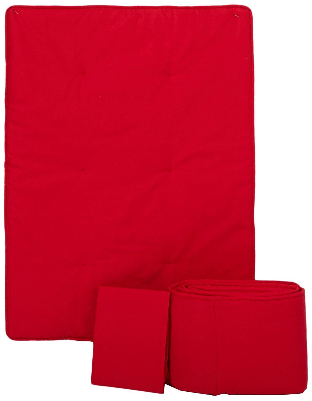 SheetWorld PC5-ST-WS8 Portable / mini crib set - Solid Red Portable / Mini Crib Set - Made In USA by sheetworld   B003886NGQ