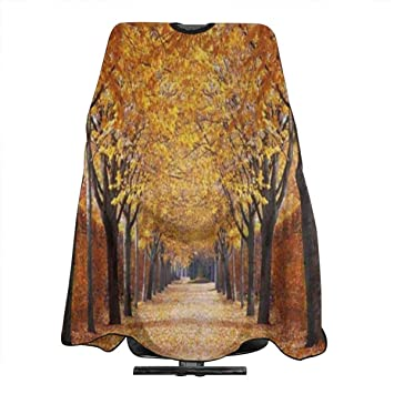 Hair Cutting Cape Autumn Alley Fall Tree Leave Personalized