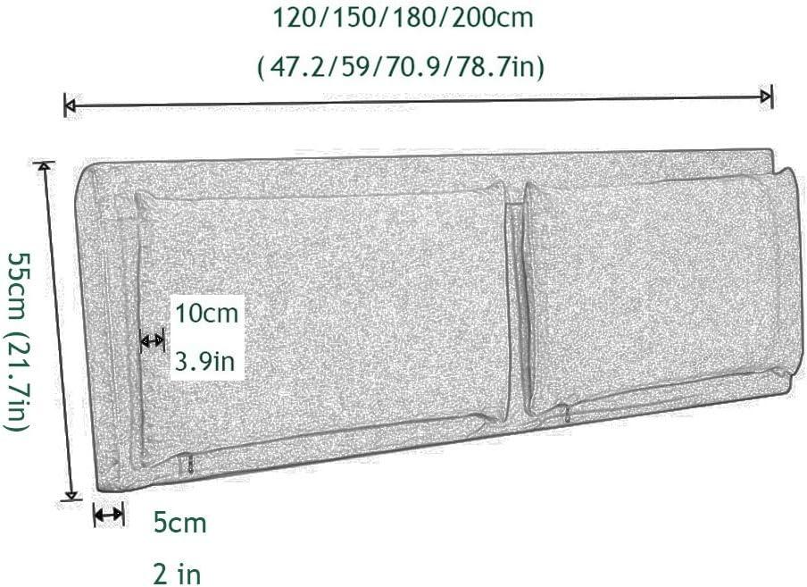 Color : A noboard, Size : 120CM Capezzale Cuscino,Cuscini Testiera Letto Testiere della Testata Letto Grande Indietro Custodia Morbida Biancheria