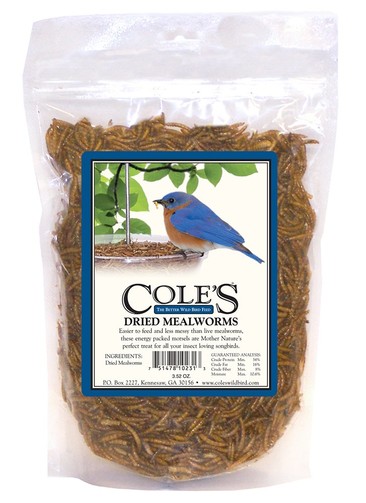 Cole's DRMW Dried Mealworm, 3.52-Ounce