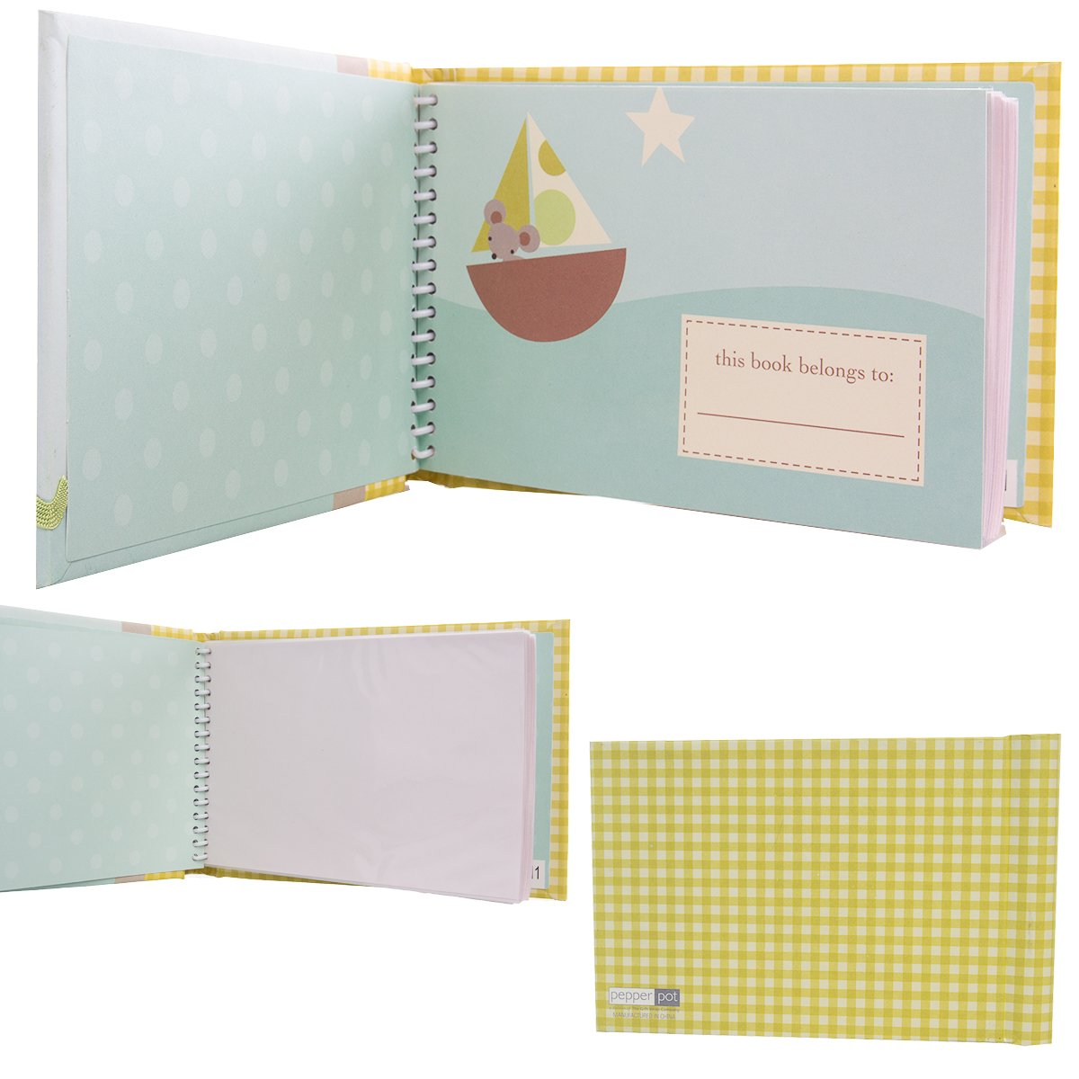 Nojo 3 Pack Baby Brag Book 4x6 Photos 24 Pages Baby Picture Book