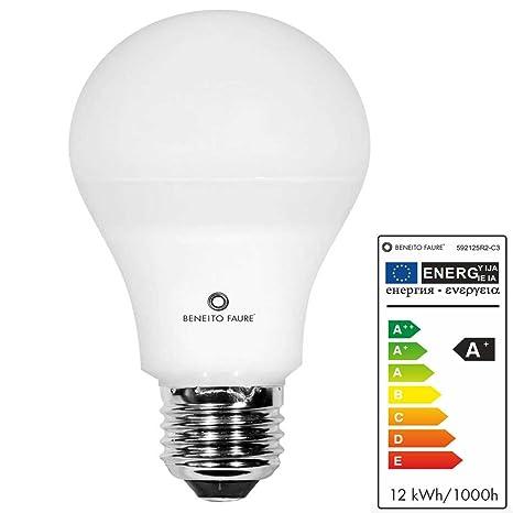STANDARD 12W E27 220V 360º DIMMABLE LED de Beneito Faure - Blanco cálido, E27,
