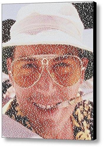 Fear and Loathing in Las Vegas Johnny Depp Raoul Duke Script Script Scene Quotes Mosaic Incredible Framed 9x11 Limited Edition - And Loathing Fear Depp