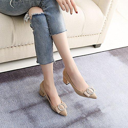 la zapatos Durante luz número con a Zapatos singles de de la primavera apricot estudiantes gran wind otoño femeninos el los College cómodo y gruesas un BwBxAaFrq