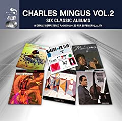 EU-only four CD set containing a total of six albums from the Jazz icon. Includes the albums a Modern Jazz Symposium, Mingus Ah Um, Mingus Dynasty, Mingus, Charles Mingus Presents and Oh Yeah. Real Gone Jazz.