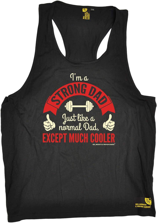 Gym Bodybuilding Mens Vest Funny Novelty Singlet Tank Top Im A Strong Dad