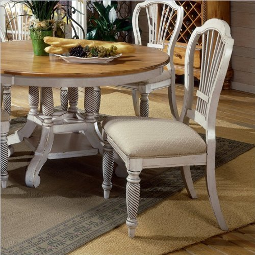 Wilshire Antique White Side Chair
