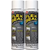 Flex Seal Spray Rubber Sealant Coating, 14-oz, White (2 Pack) - FSWHTD20