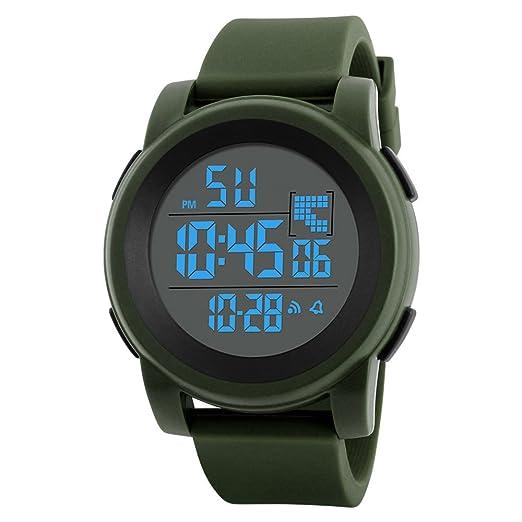 Reloj Deportivo al Aire Libre,Pwtchenty Hombres de Inteligente Reloj Digital LED Impermeable Reloj de