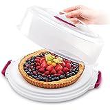 Metaltex 235180080–Contenitore per Torte Regolabile in Altezza, Polipropilene, Bianco/Trasparente, 36.4x 33x 14.5cm